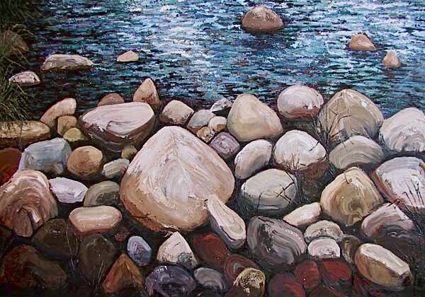 Evening Riverstones